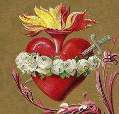 Pintura del Sagrado Corazón de Maria salvamos.