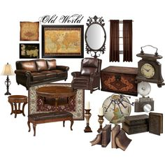 old world styled living room