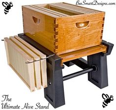 Bee Smart Designs very own Ultimate Hive Stand Head to our website to read why we are preferred over competitors products! Www.BeeSmartDesigns.com. #bee #bees #beekeeper #beekeeping #beekeep #apiary #hive #hives #hivestand #honey #nector #englishgarden #designs #feeder #beefeeder #savethebees #beesmart