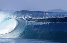 Sean Woolnough on a wave in Namotu Island, Fiji