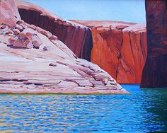 Canyon Glow, 16x20, Oil by Ron Larson Oil ~ 16 x 20, Lake Powell