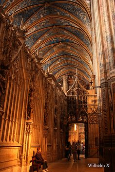 Interior de la Catedral de Santa Cecilia, Albi, Francia