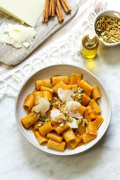 an autumn-inspired pasta dish infused with Mexican flavor