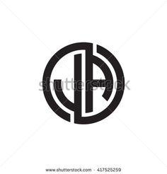 JA initial letters looping linked circle monogram logo
