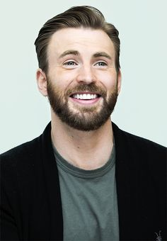 I'm usually not into facial hair but i find it stil very attractive on Chris