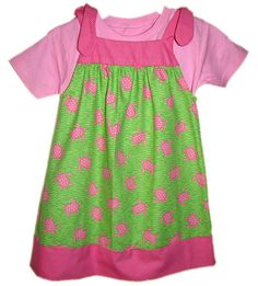 PINK TURTLES  Girls or  Toddler Jumper with by allaboutyoudesign,