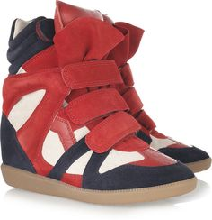 Isabel Marant Red Wedge Sneakers