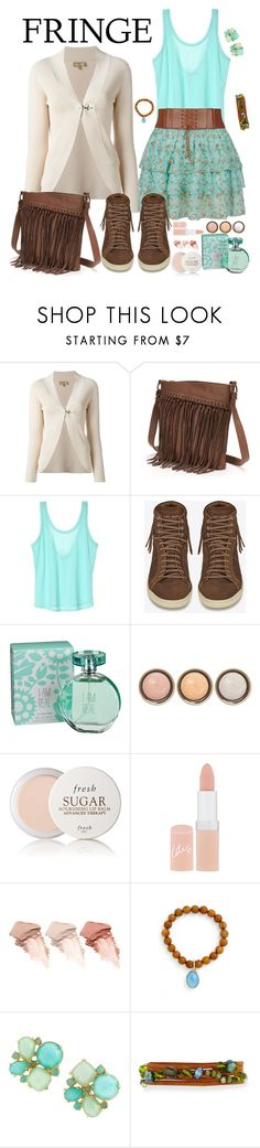 """""""#fringe"""" by manueladimauro ❤ liked on Polyvore featuring FAY, SONOMA Goods for Life, Yves Saint Laurent, maurices, By Terry, Fresh, Rimmel, Too Faced Cosmetics, Elise M. and Kate Spade"""