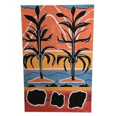 "Original Art ""Hookah Plant Mountain"" Painting, 2018 - Image 1 of 3"