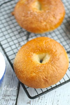 If you love bread youll love these Gluten Free Egg Free Bagels that are also Vegan and dairy free. Food allergies make it impossible to find an egg free bagel until now. These are soft and Vegan Bagel, Vegan Bread, Vegan Food, Breakfast And Brunch, Vegan Breakfast, Egg Free Recipes, Allergy Free Recipes, Vegetarian Recipes, Fast Recipes