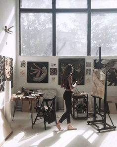 Pin by inge rahmawatie on alone art studios, art, dream art. Alone Art, Atelier D Art, Artist Aesthetic, Dream Studio, Dream Art, Art Studios, Home Deco, Art Inspo, Art Projects