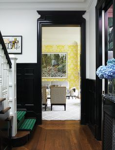 Like the bursts of colour! Contrasting Hallway Design | photo Michael Graydon | design Victoria Webster | House & Home