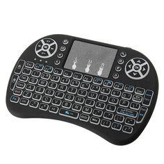 I8 White Backlit 2.4Ghz Wireless Mini Keyboard Air Mouse Touchpad Sale - Banggood.com Mini Keyboard, Photography Camera, Electronic Cigarette, 3d Printer, Consumer Electronics, Audio, Gadgets, Gadget, Vape