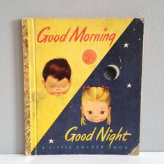 Rare Eloise Wilkin Illustrated Good Morning and Good Night ~ A Little Golden Book ~ Story by Jane Werner ~ 1949 ~ Bedtime, Dreams, Animals