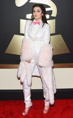 Charli XCX goes for wild style in Moschino at the Grammys!