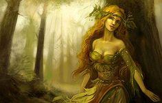 Le ninfe, nell'antica religione greca, erano divinità femminili di un ordine inferiore alle divinità dell'Olimpo; erano connesse col principio liquido e con