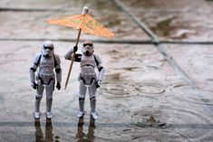 tiny storm troopers weathering the storm  (I forgot to credit Stefan the photographer!)
