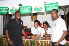 Presidente Beer booth at the 2011 Caribbean Rum & Beer Festival.