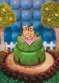 Teddy Bear Garden Picnic Birthday Party