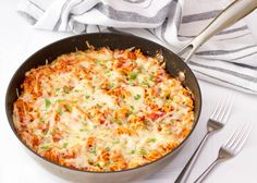 The Classic Tuna Pasta Bake. Crowd pleasing comfort food at its absolute best! Just cook the pasta and the rest is in one pot. Minimal pot washing, great!