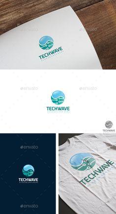 Tech Wave Logo Template Vector EPS, AI. Download here: http://graphicriver.net/item/tech-wave-logo/14761610?ref=ksioks