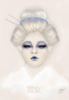 Yuki Onna by raquelita2212.deviantart.com on @DeviantArt