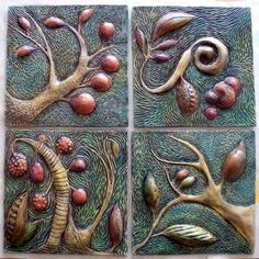 amazing relief tile - create four tiles that relate to one another