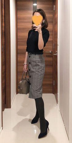 オトコは私の写し鏡( ̄^ ̄)ゞ | AIオフィシャルブログ 毎日がときめく「自分軸ファッション」の作り方 Powered by Ameba Maxi Pencil Skirt, Pencil Skirt Outfits, Office Outfits, Fall Outfits, Casual Outfits, Fashion Face, Womens Fashion, Winter Skirt, Office Fashion