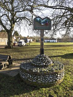 The village sign for Gressenhall, Norfolk