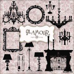 Scrap Set - Glamour PNG Files