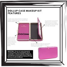 The Dollup Case Makeup Organizer with Empty Magnetic Palette is the best way to…