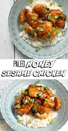 Paleo Honey Sesame Chicken - healthy, easy and delicious homemade Chinese food!