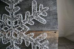 String Art 12 x 12 recargado Holiday copo de por RambleandRoost