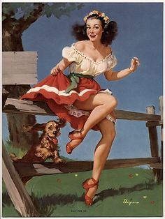 pin up with dog - Google Search