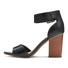 Women's Noemi Quarter Strap Sandals Merona - Black 8.5