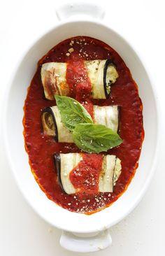 DELICIOUS Vegan Eggplant Lasagna Roll Ups! 10 ingredients and SO satisfying   #vegan #glutenfree #minimalistbaker