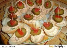 Všestranná pomazánka recept - TopRecepty.cz Tapas, Snacks, Desserts, Food, Recipes, Sandwich Spread, Tailgate Desserts, Appetizers, Deserts