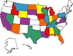 Visited United States Map: US Map with colored states, color USA map for travellers States Visited Map, United States Map, U.s. States, Us State Map, Us Map, Me On A Map, Draw Map, Oh The Places You'll Go, Places To Travel