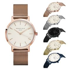 New Rosefield Brand Women Men Simple Analog Quartz Watches Stainless Steel Wristwatch -- BuyinCoins.com