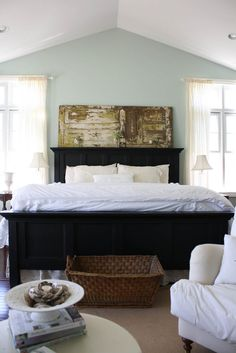 "Perfect color for the Master Bedroom?~Benjamin Moore ""Palladian Blue""~"