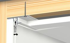 Shadowline drywall | integrated picture hanging rail