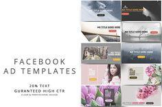 Facebook Ad Templates Vol.3 by pmvch on @creativemarket