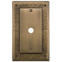 Greek Design Solid Brass Cable Cover - Antique Brass