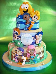 Bubble Guppies Cake.......this is too cute!! ... especially if we have a goldfish swim party!