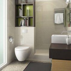 Banheiros e lavabos-idéias que podem ser usadas em pequenos espaços
