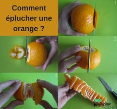 This tip is especially useful for those of you that don't have any nails to dig into the tough skin of an orange. With a few clever cuts of a knife, you can peel an orange and eat it without juice dripping all over your hands. Panini Maker, Cake Blog, Homemade Sauce, Orange Peel, Food Hacks, Food Tips, Kitchen Hacks, Kitchen Ideas, Fun To Be One