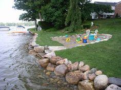 Image result for lake seawall steps