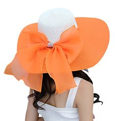 Women's Summer Wide Brim Beach Hats Sexy Chapeau Large Floppy Sun Caps (Orange) 30th floor http://www.amazon.com/dp/B01BZP4MAC/ref=cm_sw_r_pi_dp_HaF.wb0R6KEVX