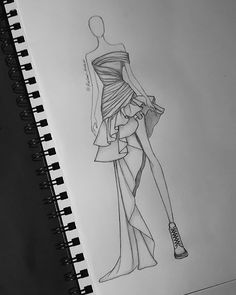 Fashion design sketches 565342559476197378 - Still obsessed with frills and ruffles 😅… Source by Dress Design Drawing, Dress Design Sketches, Fashion Design Sketchbook, Fashion Design Drawings, Fashion Drawing Tutorial, Fashion Figure Drawing, Fashion Drawing Dresses, Drawing Fashion, Fashion Dresses