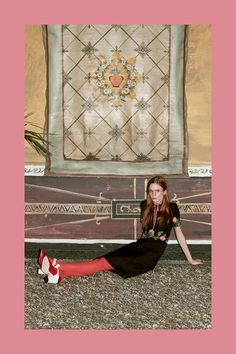 Middi Black dress Gucci Prefall 2016